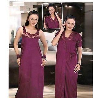Buy Hot Sleep Wear Set 2pc Nighty   Over Coat Hot Bed Night   Robe ... c2fbd92ab