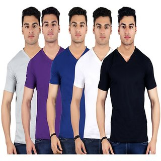 Diaz Multi V-Neck T-Shirt Pack Of 5