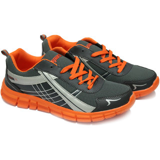 Sparx SM200-GREY-ORANGE Sports Shoes