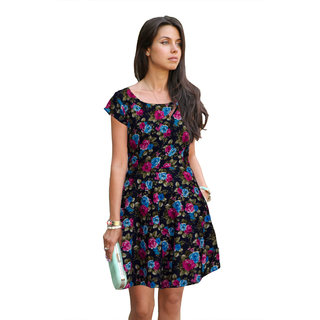 Stylelead Fashion Multicolor Printed A Line Dress Dress For Women