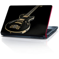 Beautiful Black And Golden Guitar 15.6 Inches Laptop Skin By Shopkeeda