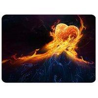 Fire Heart Digital Art Mouse Pad By Shopkeeda