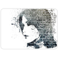 Face Art Black And White Mouse Pad By Shopkeeda