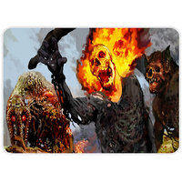 Scary Burning Ghost Mouse Pad By Shopkeeda
