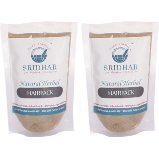 Sridhar Natural Herbal Hair Pack 50 gr Pack of 2