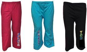 Pari  Prince Kids Hosiery Track Pants (Set of 3)