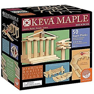 Mindware Keva Maple: 50 Piece Plank Set