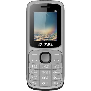 Q-Tel Q3 (Dual Sim 1.8 Inch Display Multi Language Support 800 Mah Battery)