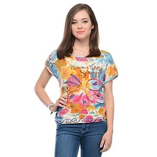 New Attractive printed-t-shirt LAVENNDER  LW-3756