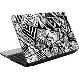 N/A Black  White Pattern Vinyl Laptop Skin