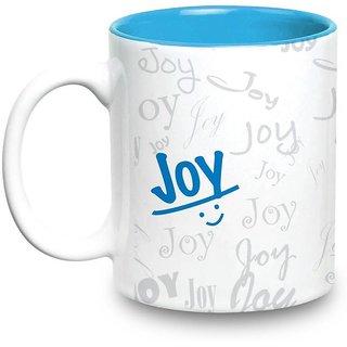 Joy Name Gift  Ceramic Inside Blue Mug Gifts For Birthday