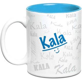 Kala Name Gift  Ceramic Inside Blue Mug Gifts For Birthday
