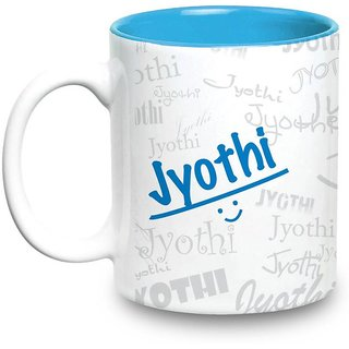 Jyothi Name Gift  Ceramic Inside Blue Mug Gifts For Birthday