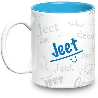 Jeet Name Gift  Ceramic Inside Blue Mug Gifts For Birthday