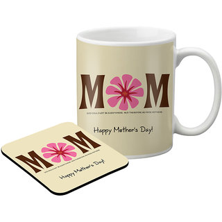 LOF Gifts For Mom Gifts For Mother'S Day Love Printed  Graphics Printed Coaster And Mug Combo