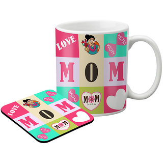 LOF Gifts For  Awesome Gifts For Mom For Mother'S Day  Graphics Printed Coaster And Mug Combo