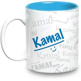 Kamal Name Gift  Ceramic Inside Blue Mug Gifts For Birthday