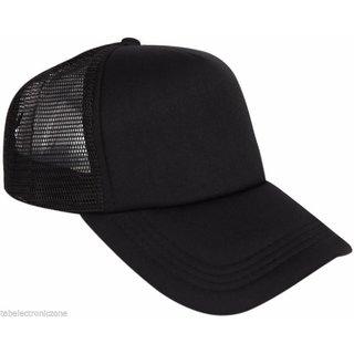 60d7534dcbe Buy Solid Black Plain Netted Baseball Cap For Cool Guys Online - Get 24% Off