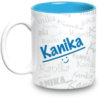 Kanika Name Gift  Ceramic Inside Blue Mug Gifts For Birthday