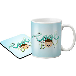LOF Coo Boy Gift For Brother And Son Birthday 325 Ml Ceramic Coffee Mug With Printed Coaster Combo