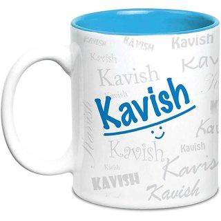 Kavish Name Gift  Ceramic Inside Blue Mug Gifts For Birthday