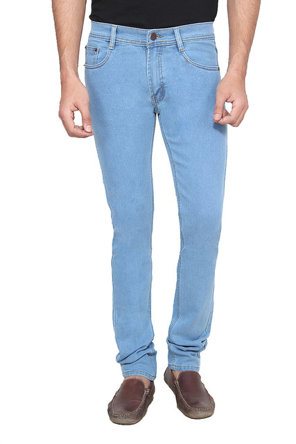 afe02be5a7 Buy Ansh Fashion Wear Men'S Blue Regular Fit Jens Online @ ₹650 ...