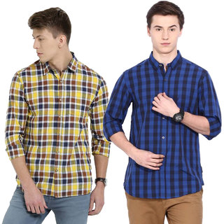 Red Code  Casual Poly-Cotton Shirt For Men Combo Of 2