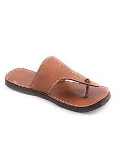 Forever Mens Brown Velcro Floaters