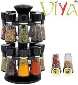 Viya spice rack 16 Piece Condiment Set - Color May Vary