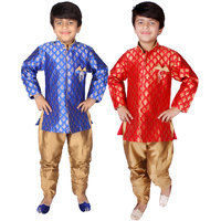 Delhiite Multi Color Indo Western  Pack Of 2