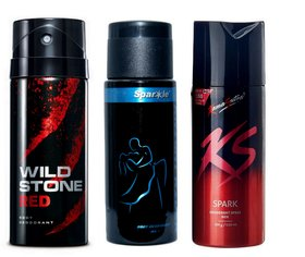 Wildstone Kamasutra and Sparkle (pack of 3 Pcs)-150 ml each