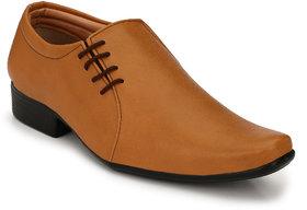 Groofer Men's Tan Slip On Formal Shoes