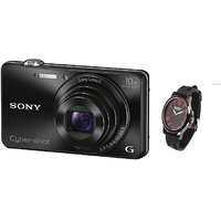 New Sony Cyber-shot DSC-WX220 Point & Shoot Camera (Black) With Free UCB Watch