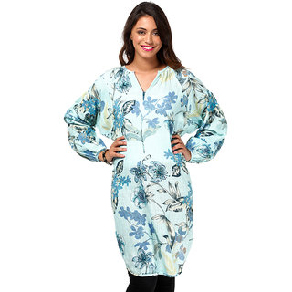 LOVE FROM INDIA FLORAL PRINTED BEACHWEAR TUNIC _buy One Tunic Get One Scraf Free