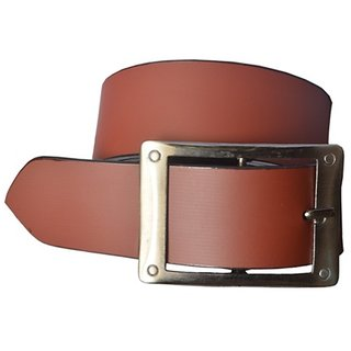Unique Collections Mens Brown Leatherite Pin-Hole Buckle Belt (pln-01)