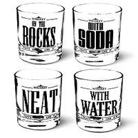 Whiskey Glass Set Of 4 Pcs