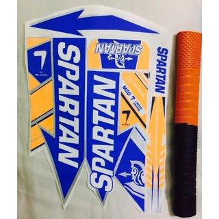 SPARTAN MSD 7 LIMITED EDITION Cricket Bat Sticker with CHEVRON Grip