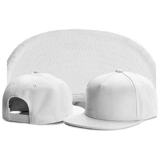Solid Style Plain White Hip Hop Snapback Cap For All Free Size