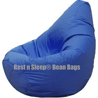 Rest N Sleep - Bean Bags / Chair With Beans - Pear Shape - Blue Color- For Kids