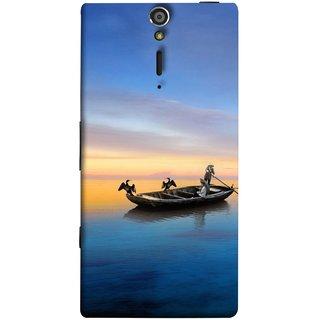 FUSON Designer Back Case Cover for Sony Xperia SL :: Sony Xperia S :: Sony Xperia SL LT26I LT26ii (Water Sea Sky Beautiful Boat Cruise Horizon )