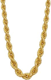 Xoonic's Gold Plated Rope Chain 3mm Thick / 20 Inch Long Rope Chain