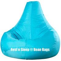 Rest N Sleep - Bean Bags / Chair Cover Only - Pear Shape - Aqua Color - XXL