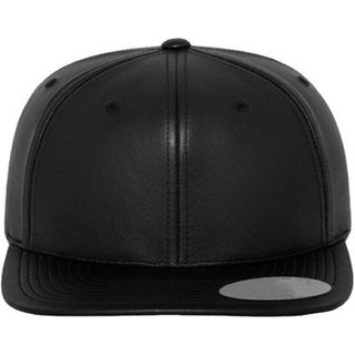 a6eea5c40e4 Buy Stylish Black Plain Leather Hip Hop Snapback Hip Hop Cap Online - Get  25% Off