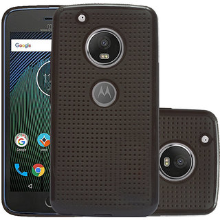 ECellStreet Back Case, Lightweight,Shock Absorbing Dotted Soft Back Case Cover For Motorola Moto G5 + Plus - Brown