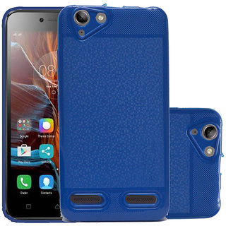 ECellStreet Back Case, Lightweight,Shock Absorbing Soft Back Case Cover With Camera Protection For Lenovo Vibe K5 Plus - Dark Blue