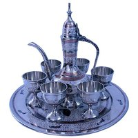 Pure Brass Antique Royal Wine Set Handicraft