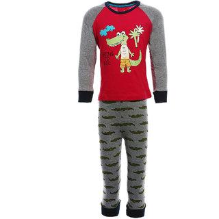 e98539b14c50 Buy Lazy Shark Boys Cotton Printed Nightwear Top   Bottom Set Online ...