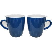 Cera Shilp Set Of Two Blue Mugs
