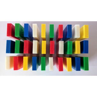 Toppling Dominoes, four color, 30 pieces
