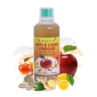 Kashvy Apple Cider Vinegar with Ginger / Garlic / Lemon / Honey( 500 ml)